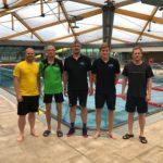 Das Trainingsteam im Arnoldbad mit den USV Masters