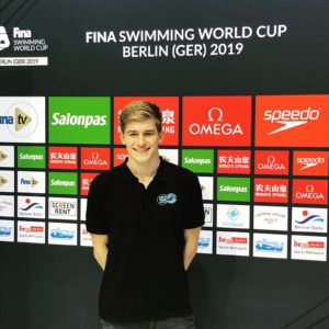 Urs Bludau auf dem FINA Wimming World Cup in Berlin